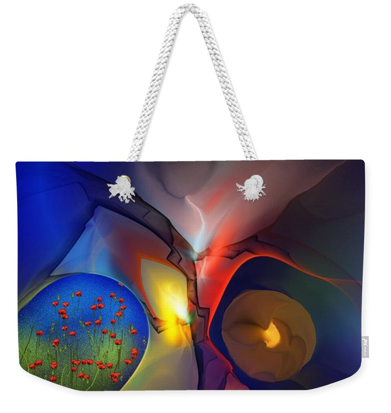 Fine Art Weekender Tote Bag featuring the digital art Portals by David Lane
