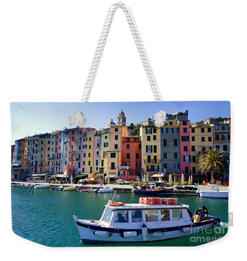 Portovenere Weekender Tote Bag featuring the photograph Porto Venere by Mats Silvan