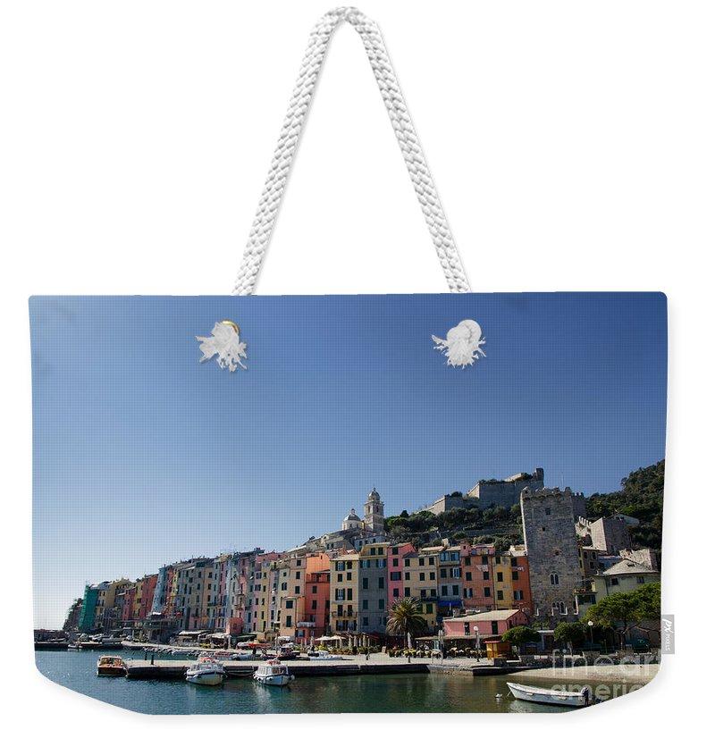 Portovenere Weekender Tote Bag featuring the photograph Portovenere by Mats Silvan