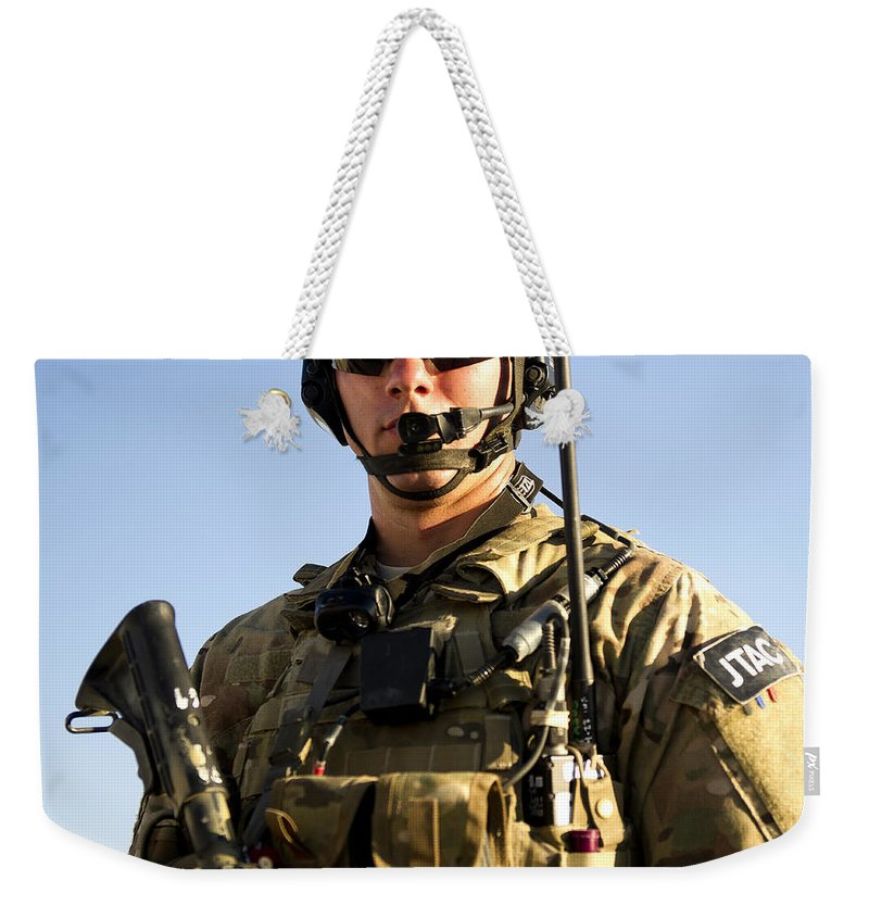 Joint Terminal Attack Controller Weekender Tote Bag featuring the photograph Portrait Of A U.s. Air Force Joint by Stocktrek Images