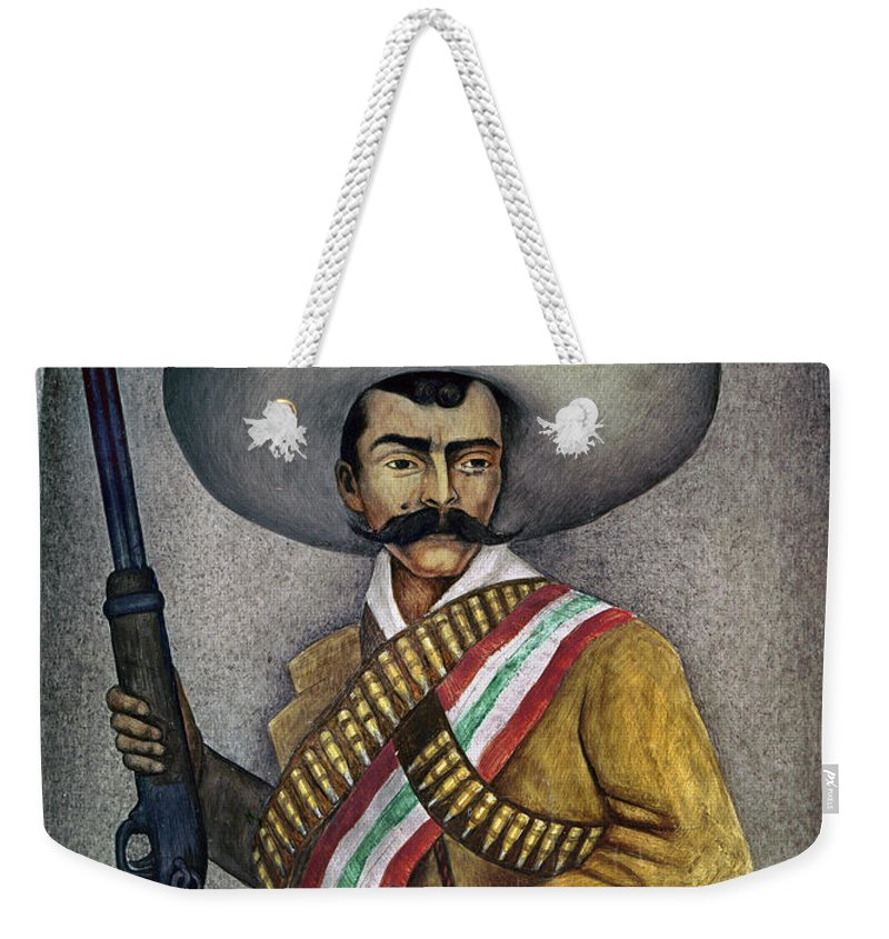 20th Century Weekender Tote Bag featuring the photograph Portrait Of A Zapatista by Granger