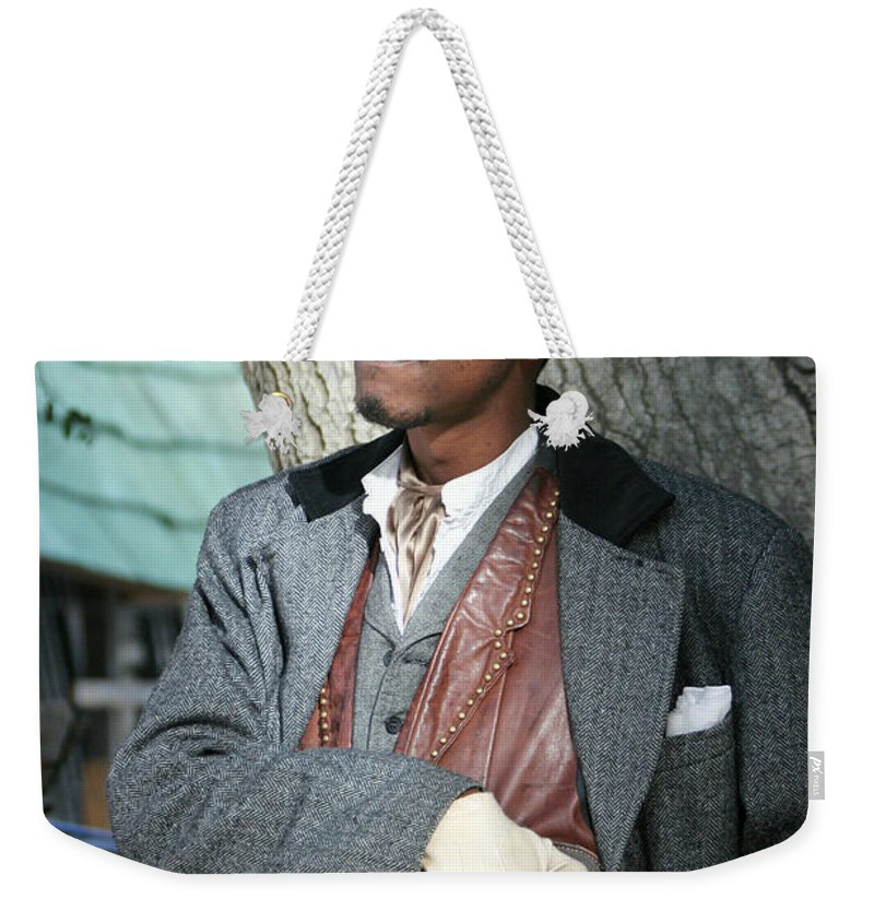 Portrait Weekender Tote Bag featuring the photograph Portrait Of Kurupt by Nina Prommer