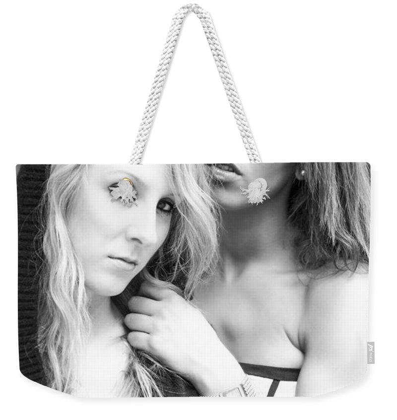 Fashion Weekender Tote Bag featuring the photograph Portrait Of Young Ladies by Ralf Kaiser