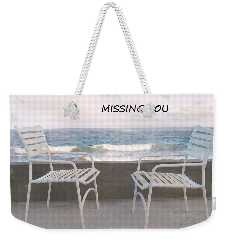 Poster Weekender Tote Bag featuring the photograph Poster Missing You by Ian MacDonald