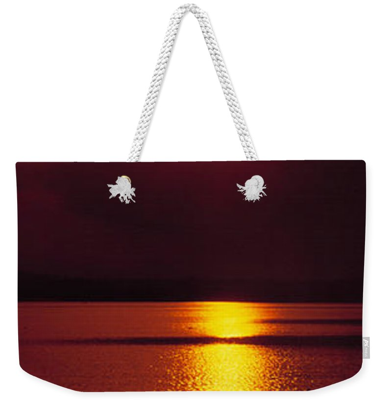Potomac River Weekender Tote Bag featuring the photograph Potomac Sunrise Washington Dc by Mike Nellums