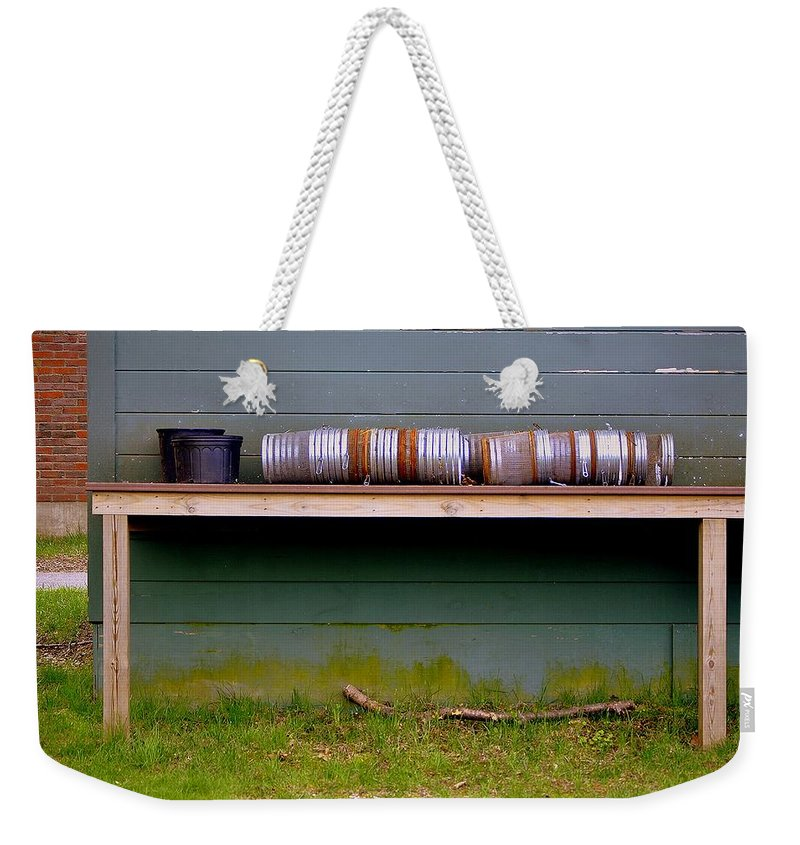 Groton School Weekender Tote Bag featuring the photograph Pots by Marysue Ryan