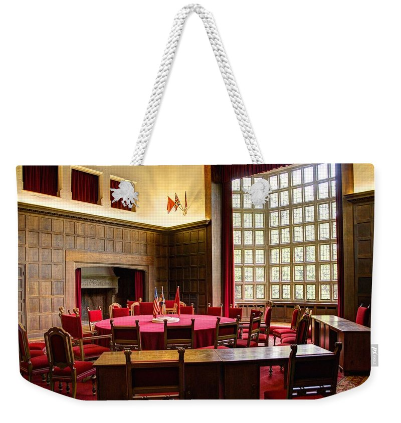 Neuer Garten Weekender Tote Bag featuring the photograph Potsdam Conference by Jon Berghoff