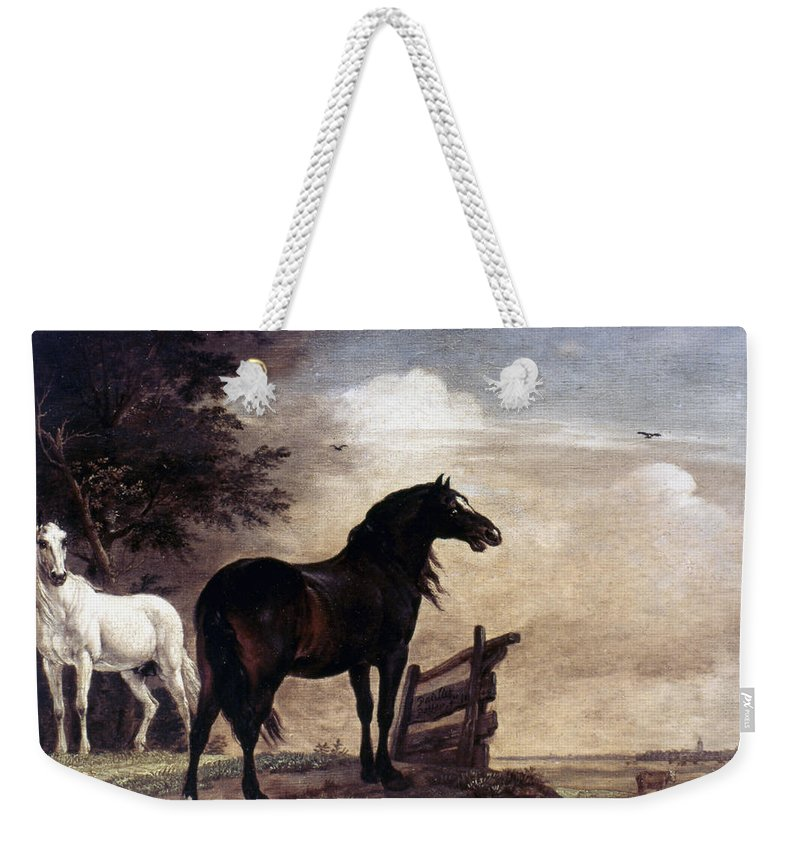 1648 Weekender Tote Bag featuring the photograph Potter: Horses, 1649 by Granger