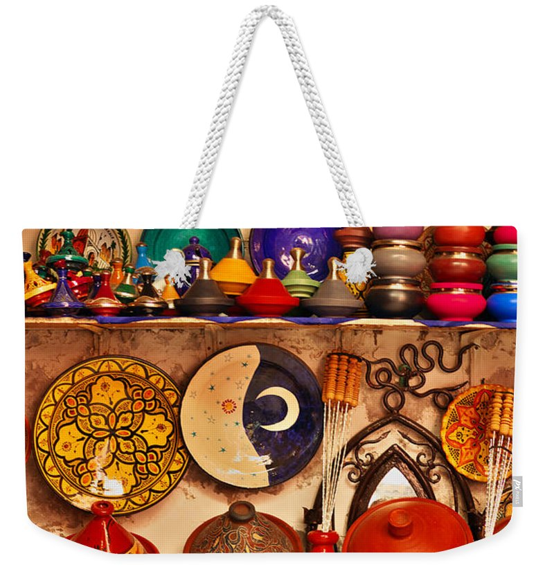 Morocco Weekender Tote Bag featuring the photograph Pottery by Ivan Slosar