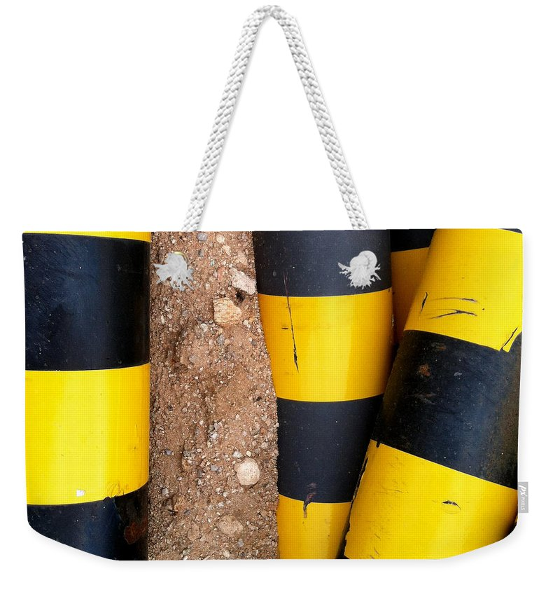 Construction Site Weekender Tote Bag featuring the photograph Preconstruction 14 by Marlene Burns