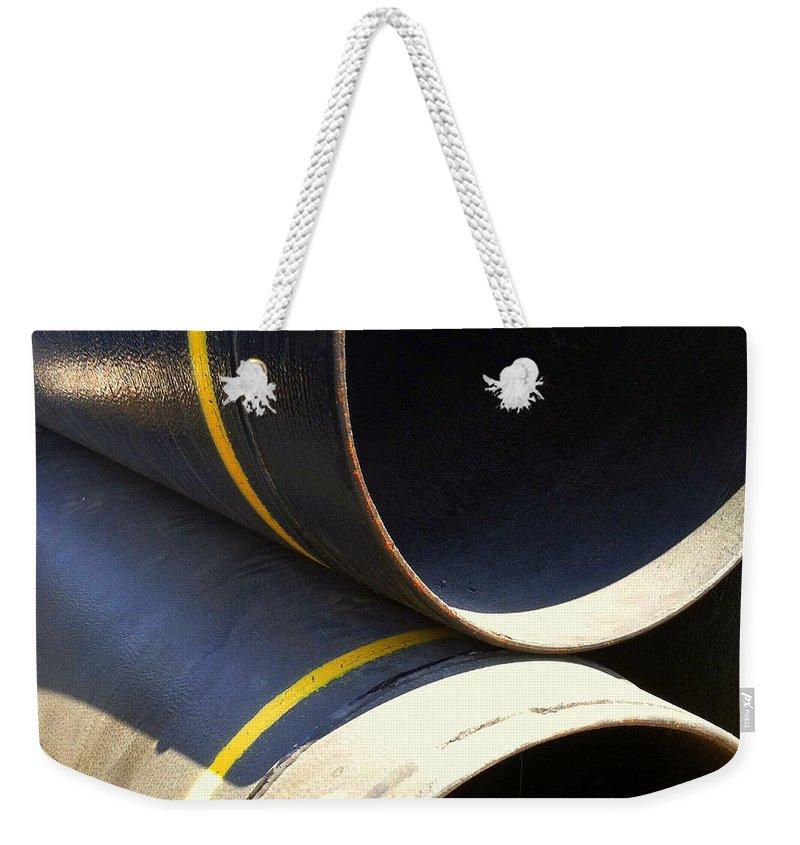 Marlene Burns Weekender Tote Bag featuring the photograph Preconstruction Twelve by Marlene Burns