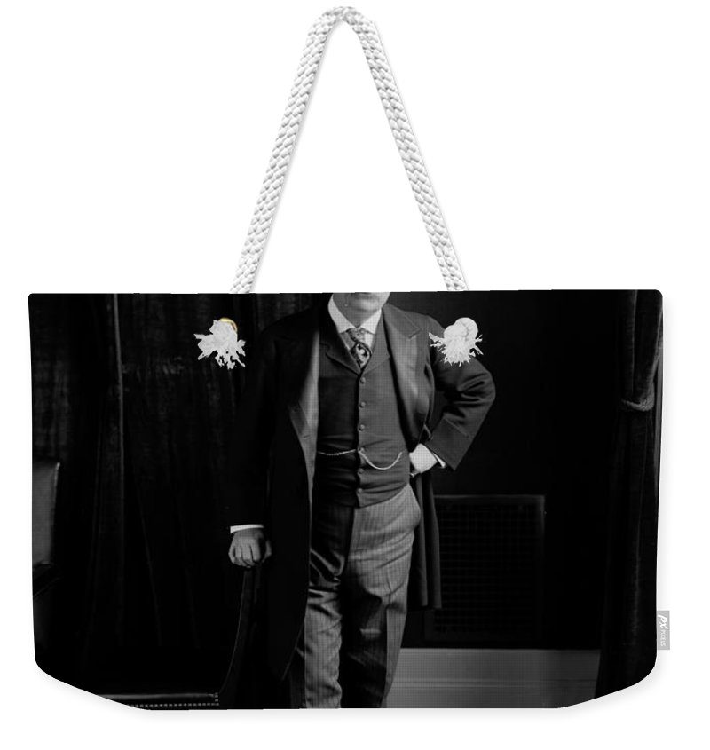 theodore Roosevelt Weekender Tote Bag featuring the photograph President Theodore Roosevelt - Portrait by International Images