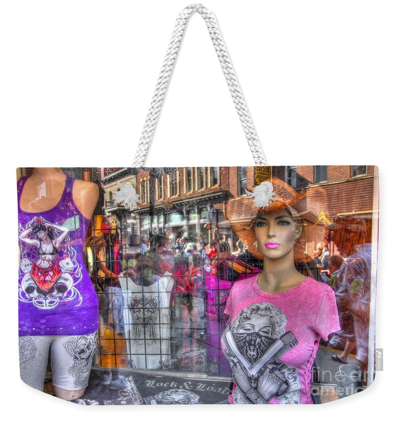 Reflections Weekender Tote Bag featuring the photograph Pretty Pink And Dangerous by Anthony Wilkening