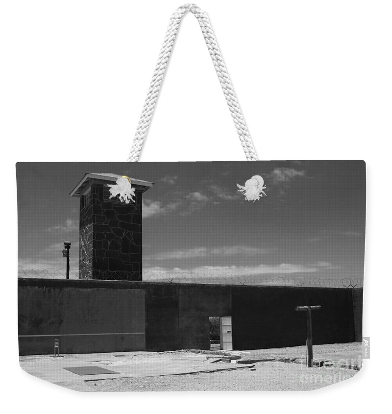 Robben Island Weekender Tote Bag featuring the photograph Prison Tower by Aidan Moran