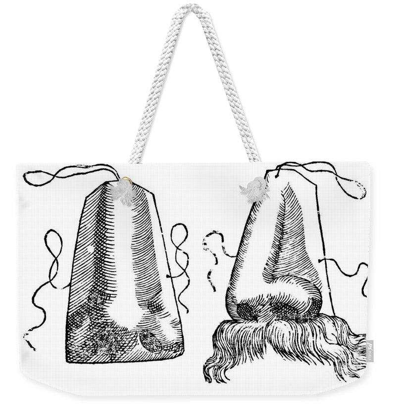 Medical Weekender Tote Bag featuring the photograph Prosthetic Noses, 1628 by Science Source