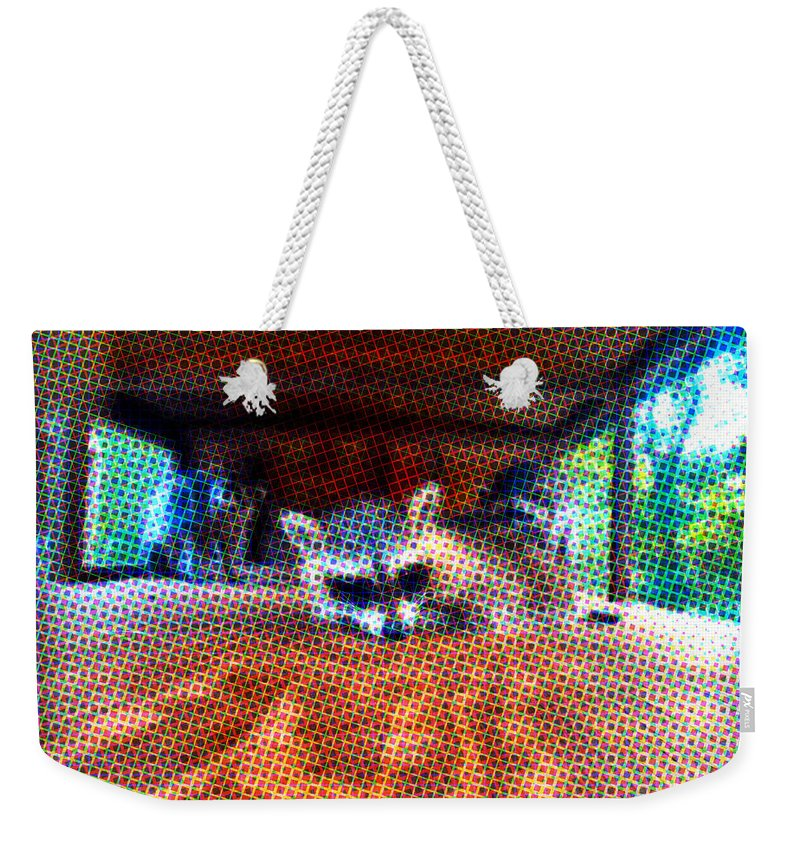 Animal Weekender Tote Bag featuring the photograph Psycodelic Furries by Art Dingo