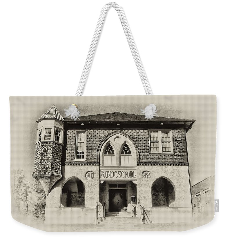 Bluebell Weekender Tote Bag featuring the photograph Public School by Bill Cannon