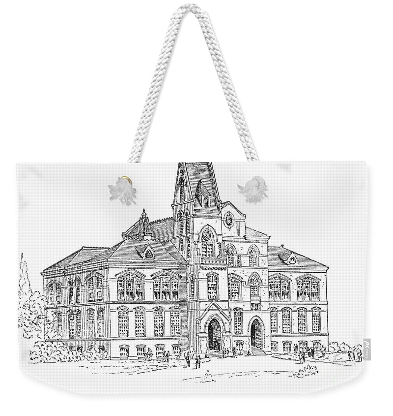1885 Weekender Tote Bag featuring the photograph Pullman: Schoolhouse by Granger