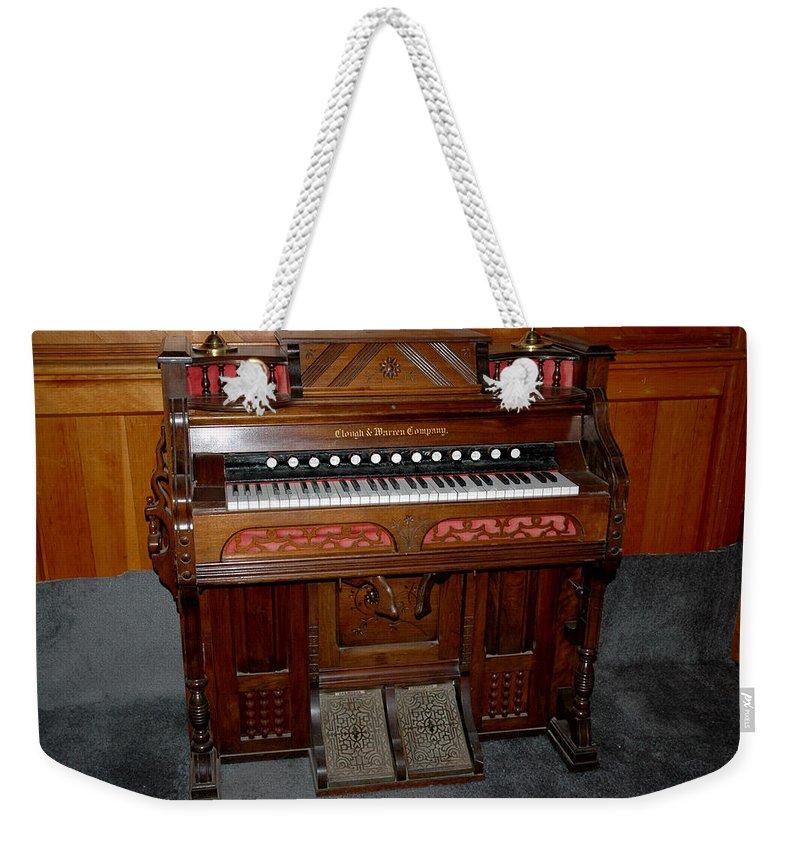 Usa Weekender Tote Bag featuring the photograph Pump Organ by LeeAnn McLaneGoetz McLaneGoetzStudioLLCcom