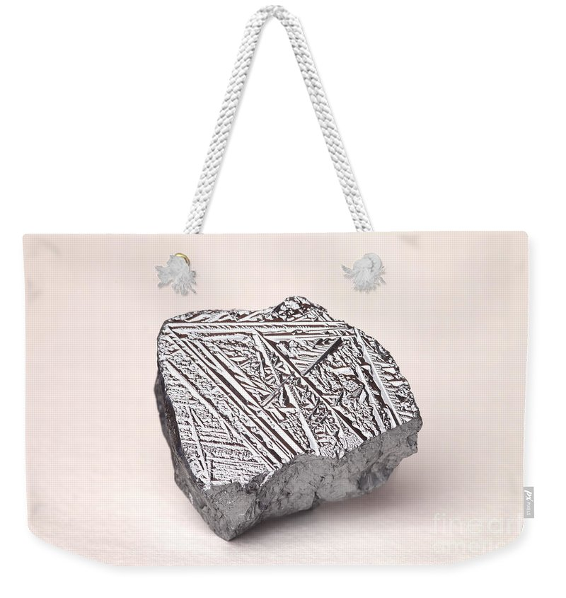 Metalloid Weekender Tote Bag featuring the photograph Pure Crystalline Silicon by Ted Kinsman