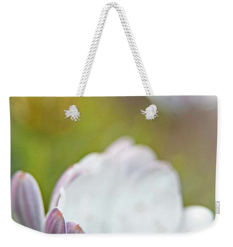 Petals Weekender Tote Bag featuring the photograph Pure Petals by Karol Livote