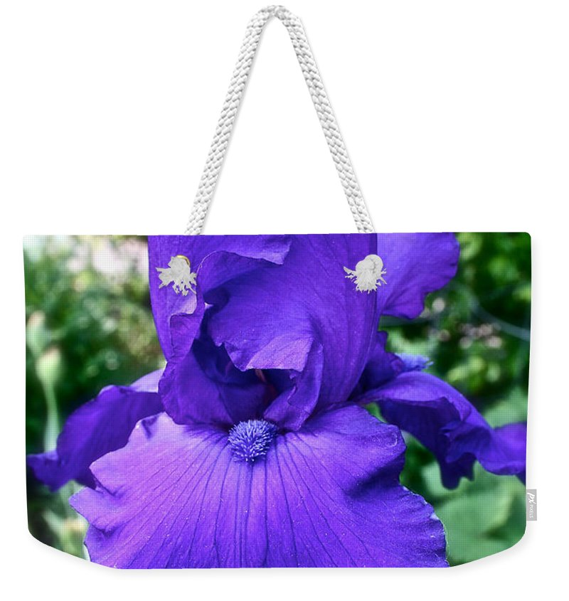 Plant Weekender Tote Bag featuring the photograph Purple Overload by Susan Herber