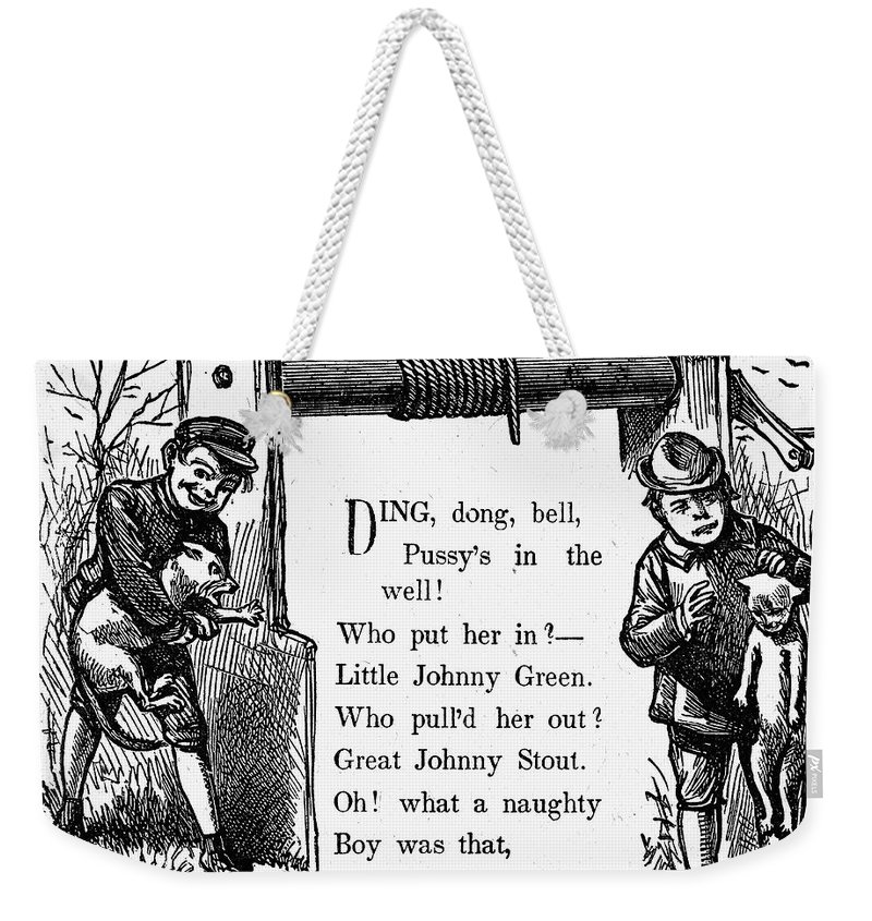19th Century Weekender Tote Bag featuring the photograph Pussys In The Well by Granger