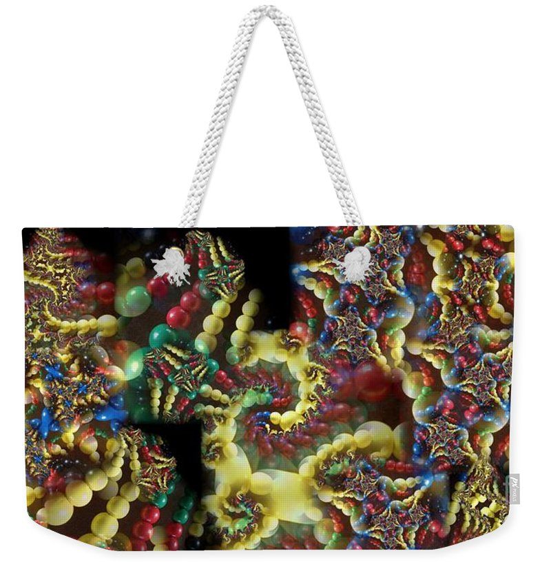 Collage Weekender Tote Bag featuring the digital art Quantum Abacus by Ron Bissett