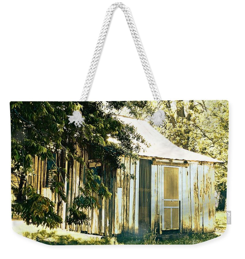 Shack Weekender Tote Bag featuring the digital art Quarters by Lizi Beard-Ward