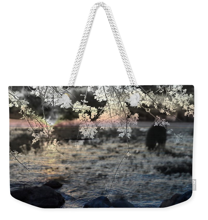 Landscape Weekender Tote Bag featuring the mixed media Quiet Moment by Kume Bryant