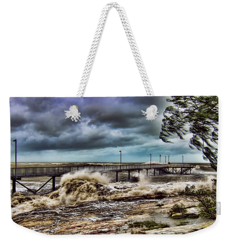 Monsoon Weekender Tote Bag featuring the photograph Raging Waters by Douglas Barnard