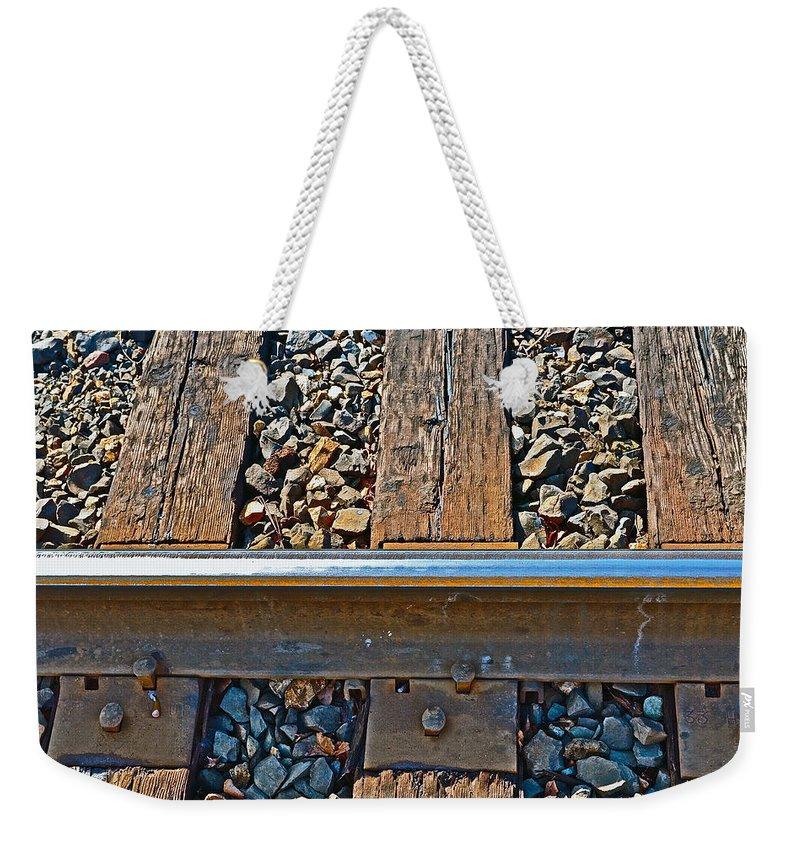 Rail Weekender Tote Bag featuring the photograph Rail by Bill Owen
