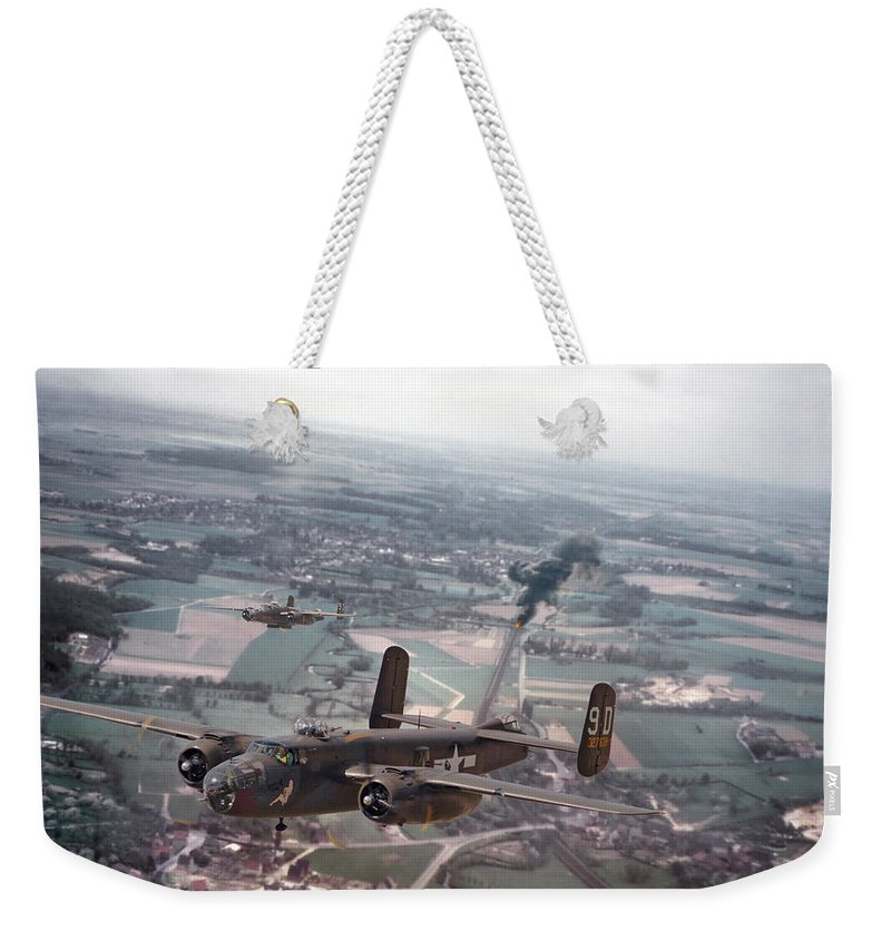 Aircraft Weekender Tote Bag featuring the photograph Rail Strike by Pat Speirs