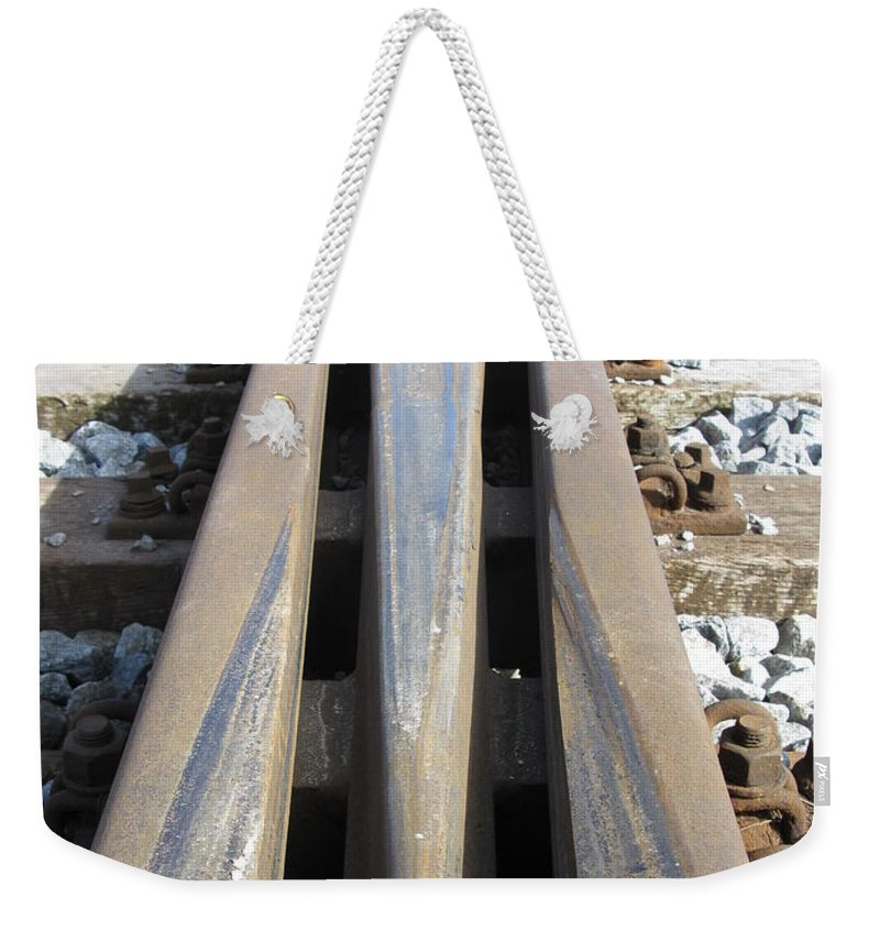 Railroad Weekender Tote Bag featuring the photograph Railroad Series 05 by Ausra Huntington nee Paulauskaite