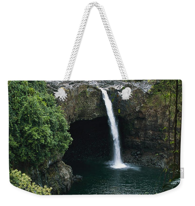 Rainbow Falls Weekender Tote Bag featuring the photograph Rainbow Falls by George F. Mobley