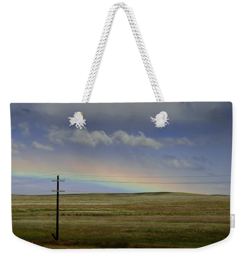 Art Weekender Tote Bag featuring the photograph Rainbow Over The Prairie by Randall Nyhof