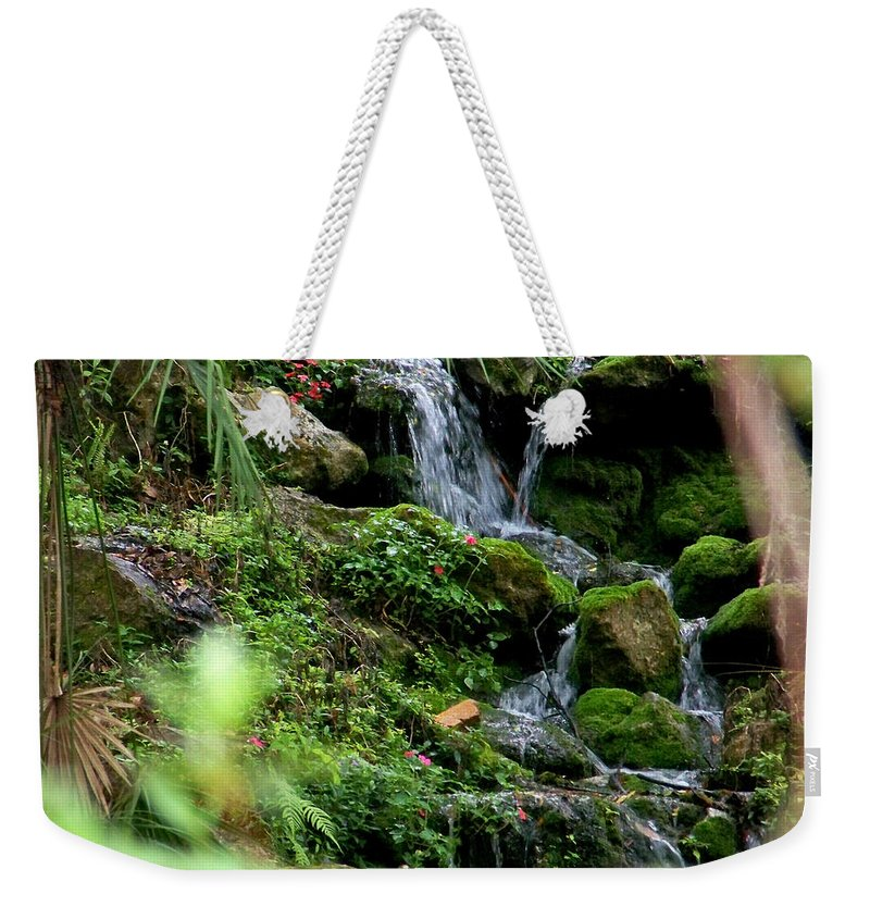 Nature Weekender Tote Bag featuring the photograph Rainbow Springs Waterfall by Judy Wanamaker
