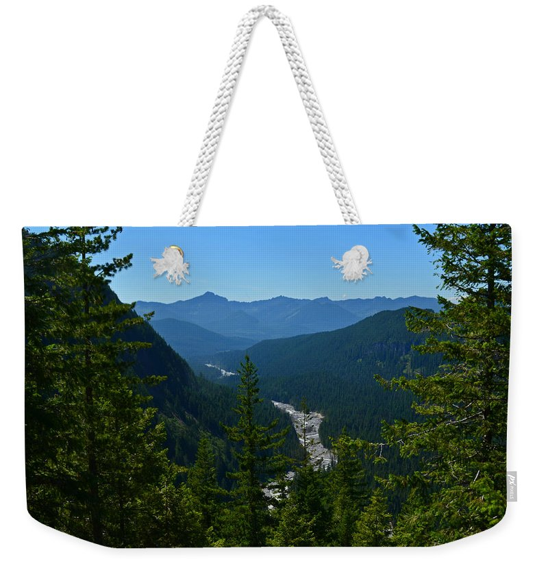 Valley Weekender Tote Bag featuring the photograph Rainier Valley by Tikvah's Hope
