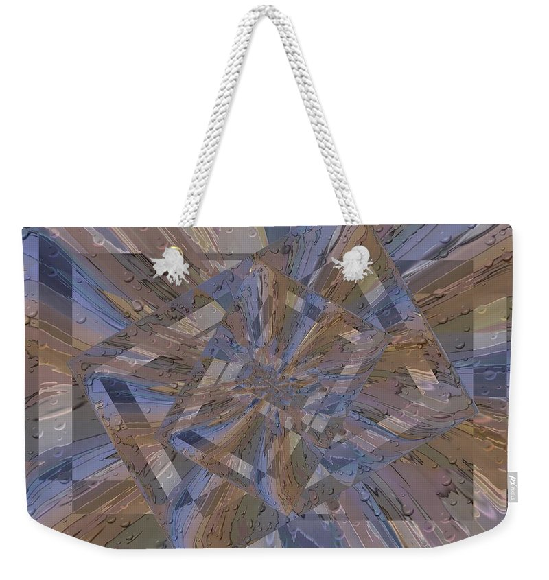 Rain Weekender Tote Bag featuring the digital art Rainy Day Portal 3 by Tim Allen