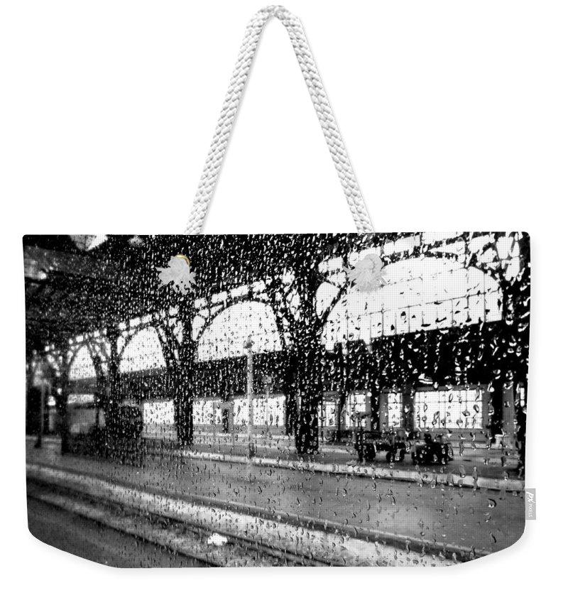 Rain Weekender Tote Bag featuring the photograph Rainy Departure by Valentino Visentini