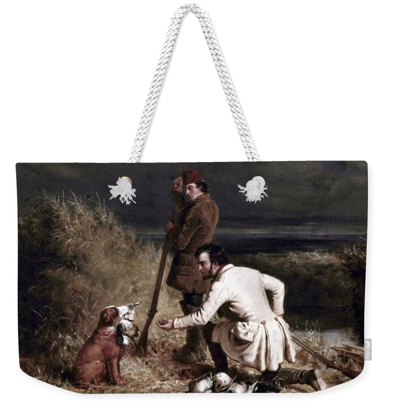 19th Century Weekender Tote Bag featuring the photograph Ranney: Duck Shooting by Granger