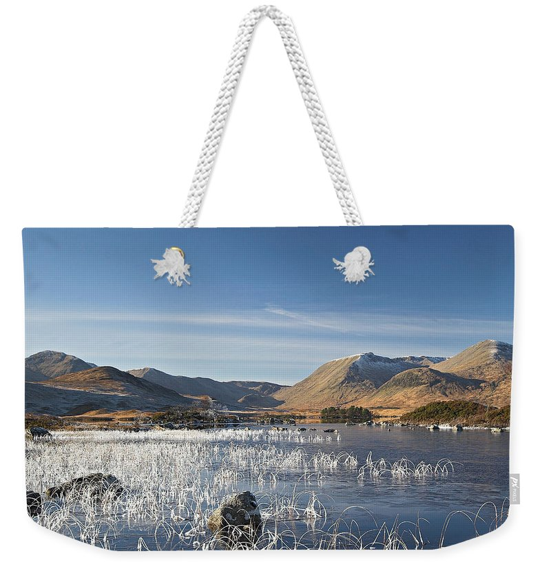 Scotland Weekender Tote Bag featuring the digital art Rannoch Moor - Winter by Pat Speirs