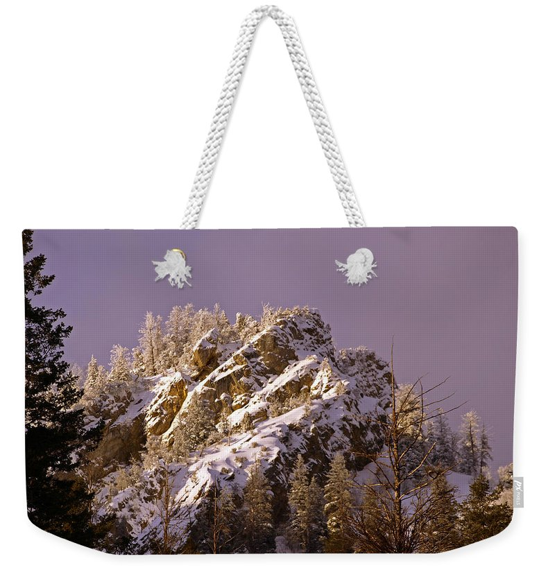 Snow Weekender Tote Bag featuring the photograph Rays Of Hope Warmth And Beauty by DeeLon Merritt