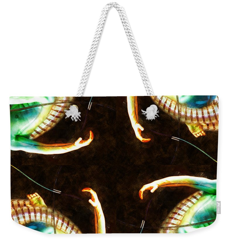 Arms Weekender Tote Bag featuring the painting Reaching Out by Adam Vance