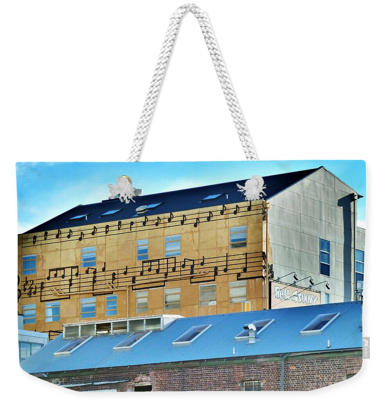 Real Groovy Weekender Tote Bag featuring the photograph Real Groovy by Steve Taylor