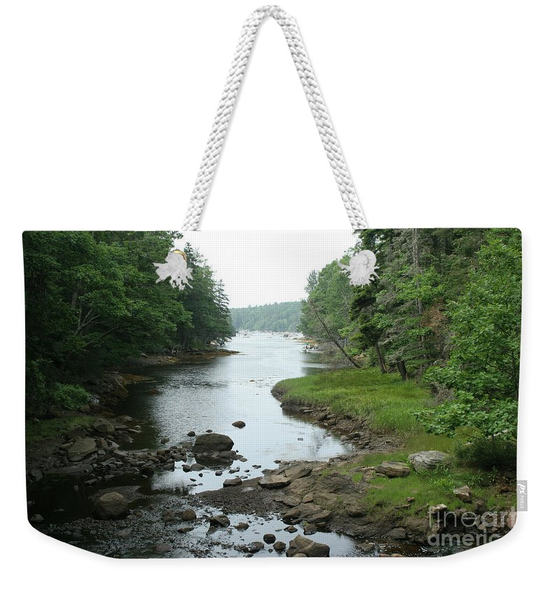 Tide Weekender Tote Bag featuring the photograph Receding Tide In Maine Part Of A Series by Ted Kinsman