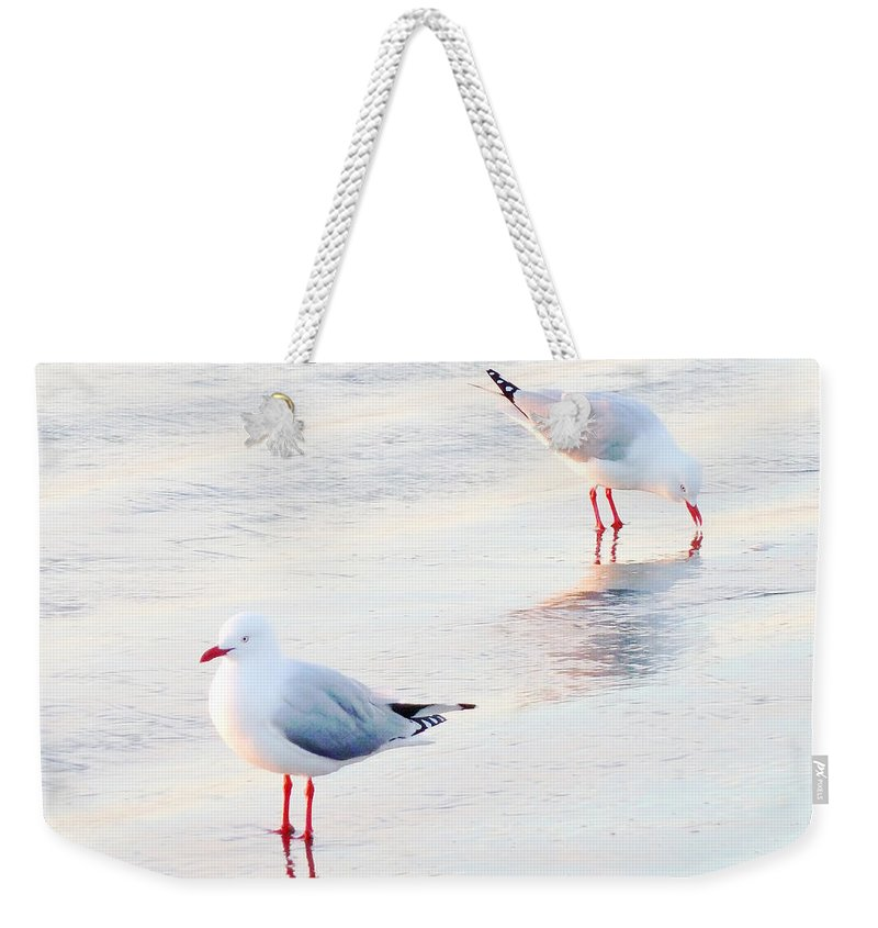 Sea Weekender Tote Bag featuring the photograph Red Legs And Lipstick by Steve Taylor