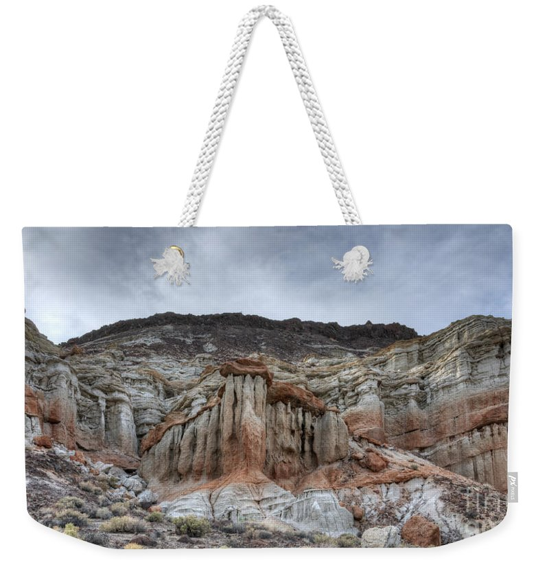 Red Rock Canyon Weekender Tote Bag featuring the photograph Red Rock Canyon Cliffs by Vivian Christopher