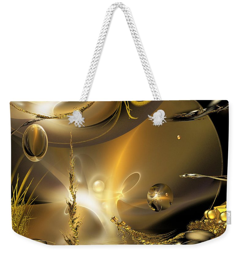 Phil Sadler Weekender Tote Bag featuring the digital art Reflecting On Tales Of Reflections Of Tales by Phil Sadler