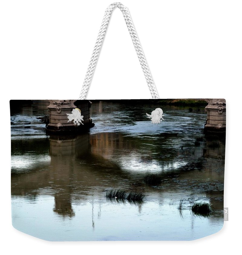 Italy Weekender Tote Bag featuring the photograph Reflection Tevere by Joseph Yarbrough